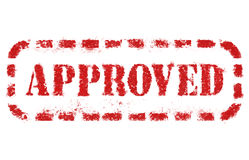 Approved. Stamp over white background. High detail in high resolution stock photo