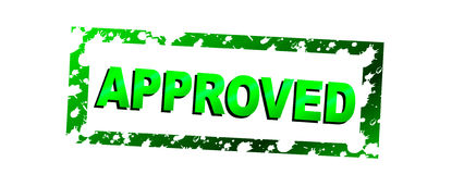 Approved vector illustration