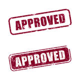 Approved. An Approved rubber stamp with white background royalty free illustration