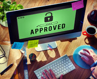 Approved Access Control Possible Usable Open Concept Royalty Free Stock Photos