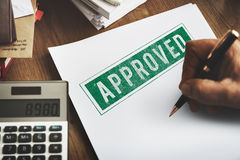 Approved Agreement Authorized Stamp Mark Concept Royalty Free Stock Photo