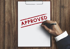 Approved Agreement Authorized Stamp Mark Concept Stock Photos
