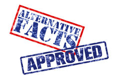 Approved alternative facts royalty free stock images
