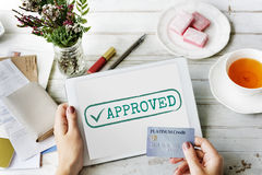 Approved Authorised Decision Selection Graphic Concept Royalty Free Stock Images