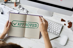 Approved Authorised Decision Selection Graphic Concept Royalty Free Stock Photo
