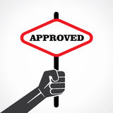 Approved banner Stock Photos