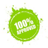 Approved blot stamp. Isolated on white background royalty free illustration