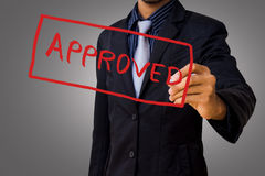 Approved by businessman Stock Photos