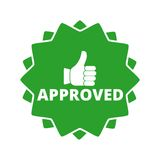 Approved button sign icon. Vektor icon Royalty Free Stock Photos