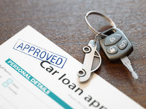 Approved Car Loan Application Royalty Free Stock Photo
