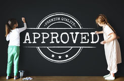Approved Certified Business Stamp Concept. Approved Certified Premium Quality Stamp Royalty Free Stock Photography