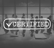 Approved Checked Accessible Authorized Security Concept Stock Images