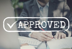 Approved Checked Accessible Authorized Security Concept Royalty Free Stock Image