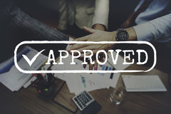Approved Checked Accessible Authorized Security Concept Stock Photo