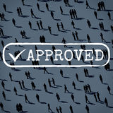 Approved Checked Accessible Authorized Security Concept Royalty Free Stock Photography