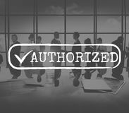 Approved Checked Accessible Authorized Security Concept Royalty Free Stock Photo