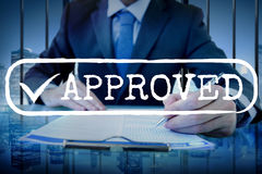 Approved Checked Accessible Authorized Security Concept Royalty Free Stock Images