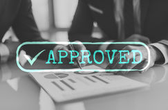 Approved Checked Accessible Authorized Security Concept Stock Photos