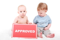 Approved child Royalty Free Stock Photography