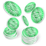 Approved chips. Success concept. 3D Vector Illustration Stock Images