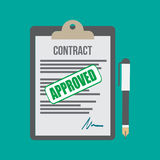 Approved contract Stock Photo