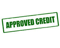 Approved credit Royalty Free Stock Photo