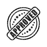 Approved damaged stamp Royalty Free Stock Photography