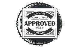 Approved design,best black stamp. Illustration stock illustration