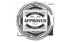 Approved design,best black stamp. Illustration vector illustration