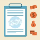 Approved design Stock Photography