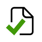 Approved document icon Stock Photo
