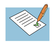 Approved document royalty free illustration