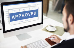 Free Approved Entry Pending Waiting Reject Concept Royalty Free Stock Image - 84456256