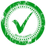 Approved grunge stamp 2. Green grunge approved stamp on a white background. Vector illustration royalty free illustration