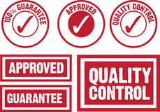 Approved, guarantee and quality control symbol Royalty Free Stock Photo