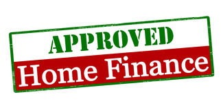 Approved home finance. Rubber stamp with text approved home finance inside,  illustration Stock Images
