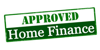 Approved home finance. Rubber stamp with text approved home finance inside,  illustration Royalty Free Stock Images