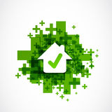 Approved house good choice. Abstract background Stock Photography
