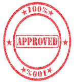 Approved hundred percent. Grungy ink stamp - vector format very easy to edit Royalty Free Stock Photos