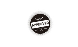 Approved icon logo Stock Photo