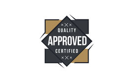 Approved icon logo Royalty Free Stock Photos