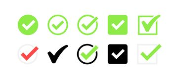Approved icon. Profile Verification. Accept badge. Quality icon. Check mark. Sticker with tick. Vector illustration.  stock illustration