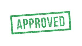 Approved ink stamp Royalty Free Stock Photo