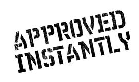 Approved Instantly rubber stamp Stock Image