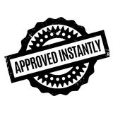 Approved Instantly rubber stamp Royalty Free Stock Images