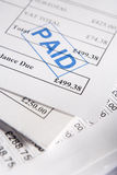 Approved Invoices. Close Up Of Approved Invoices On Top Of Each Other Stock Photography