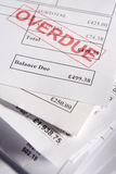 Approved Invoices. Close Up Of Approved Invoices On Top Of Each Other Royalty Free Stock Image