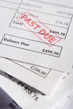 Approved Invoices. Close Up Of Approved Invoices On Top Of Each Other Royalty Free Stock Photography