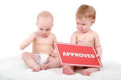 Approved kids Royalty Free Stock Photo