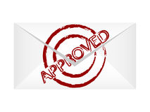 Approved letter Stock Photo